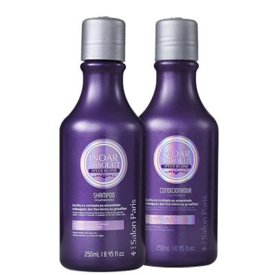 Inoar Duo Absolut Speed Blonde Hair Care System - 250ml x 2