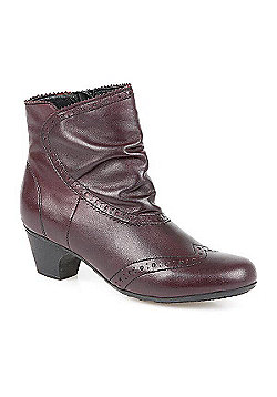 Pavers Leather Ankle Boot - Burgundy