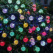 30 LED Colour Solar Crystal Globe Fairy String Lights Waterproof Crystal Ball Light Decorations