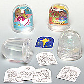 Christmas Nativity Colour-in Snowstorms (4 Pcs)