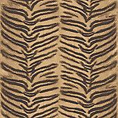 Tiger Print Wallpaper - Natural Gold Muriva J94508