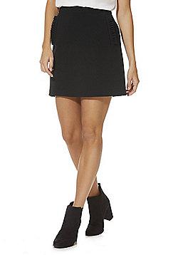 F&F Ruffle Trim Mini Skirt - Black