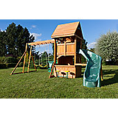 Selwood Osterley Climbing Frame With Curved Slide, Rockwall and Swings