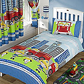 Nee Naa Fire Engine Junior Duvet Cover and Pillowcase Set