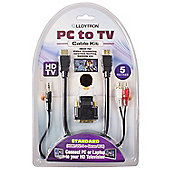 Lloytron PC To TV Cable Kit (HDMI 1.3c / Type A), 5m Length