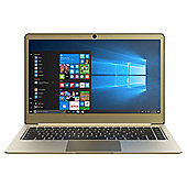 "Linx 14"" UltraSlim Full HD Lightweight Aluminium 4GB RAM 64GB Storage Intel Pentium Laptop Gold"