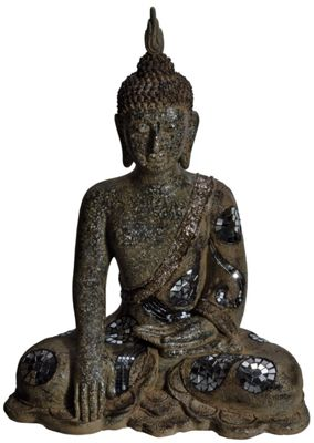 Antiqued Meditating Buddha