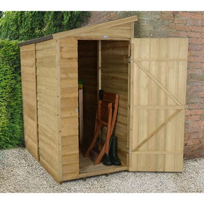 Buy Forest Garden 6x3 Overlap Pressure Treated Pent Shed