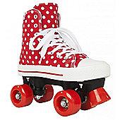 Rookie Quad Roller Skates - Canvas High Stars Blue/White - Red