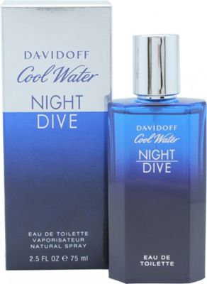 Davidoff Cool Water Night Dive Eau de Toilette (EDT) 75ml Spray For Men