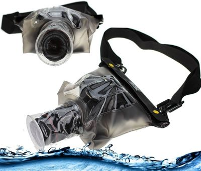 Navitech Black Waterproof Underwater Housing Case / Dry Bag For the Canon EOS 750D