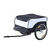 Homcom Folding Bike Trailer Cargo in Steel Frame Storage Carrier (White and Black)