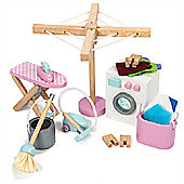 Le Toy Van Doll's House Furniture Laundry Room Set