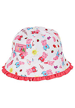 Peppa Pig Bucket Hat - White & Pink