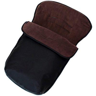Baby Travel BuddyJet Car Seat Footmuff (Black/Hot Chocolate)