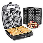 VonShef 2 in 1 Sandwich Toaster Toastie & Waffle Maker / Waffle Iron