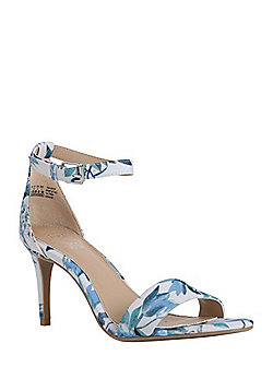 F&F Floral Heeled Sandals - Blue