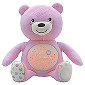 Chicco Light Up Baby Bear, Pink