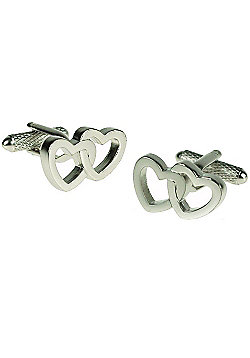 Linked Hearts Love Cufflinks