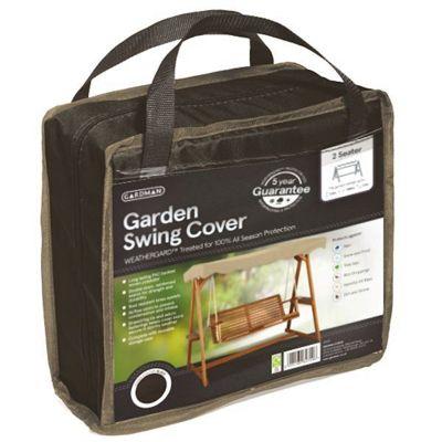 Gardman 2 Seater Garden Swing Cover- Black