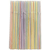 Chef Aid Candy Stripe Flexi Straws, pack of 150