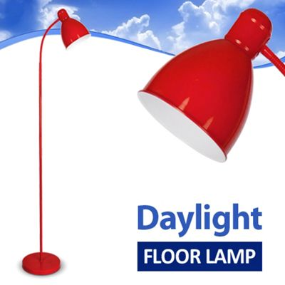 Adjustable Daylight LED Floor Standing Lamp, Red