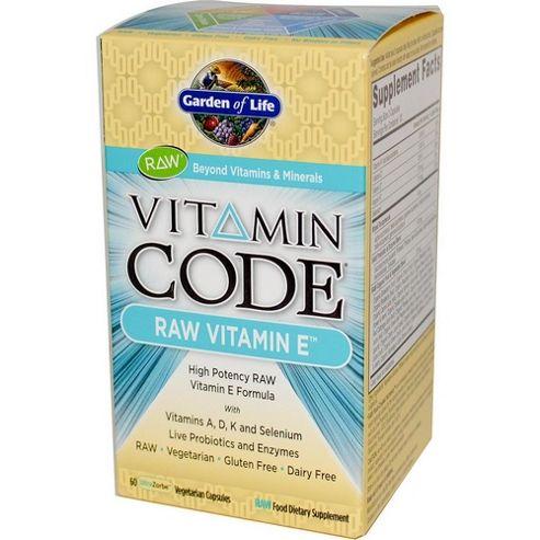 Garden Of Life Vitamin Code Raw Vitamin E 60 Veg Capsules