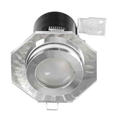 Fire Rated IP65 Hexagon GU10 Downlight, Chrome