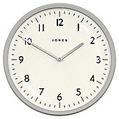 Jones Moonlight Cloud Grey Wall Clock