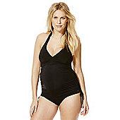 F&F Halterneck Maternity Tankini Swimsuit - Black