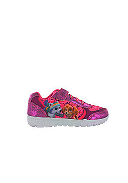 Girls Paw Patrol Pink Trainers Skye & Everest UK Infant Sizes 5 - 10 - Pink