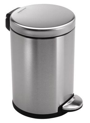 Simplehuman 3 Litres Round Pedal Bin in Brushed Stainless Steel