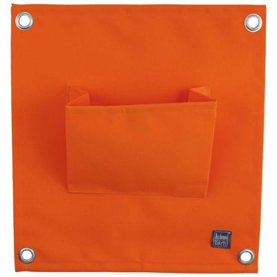 Orange Wall-mountable Fabric Pocket Wall Planter