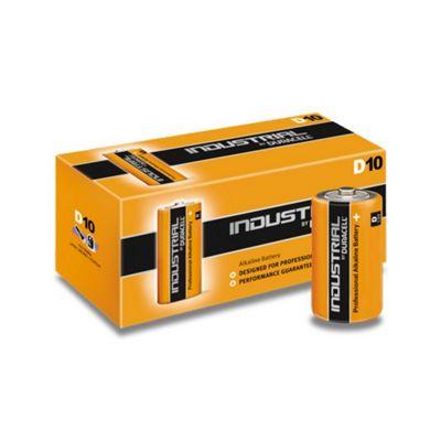 10 x D Duracell Industrial MN1300 LR20 Mono Alkaline Batteries