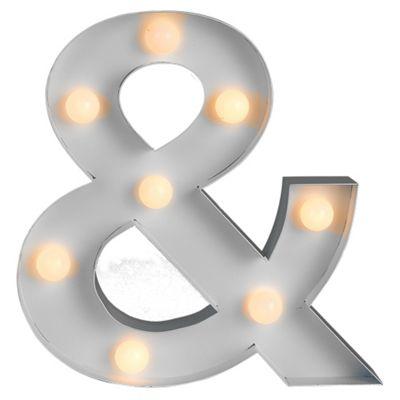 White Ampersand Shape Battery Operated 8 LED Light