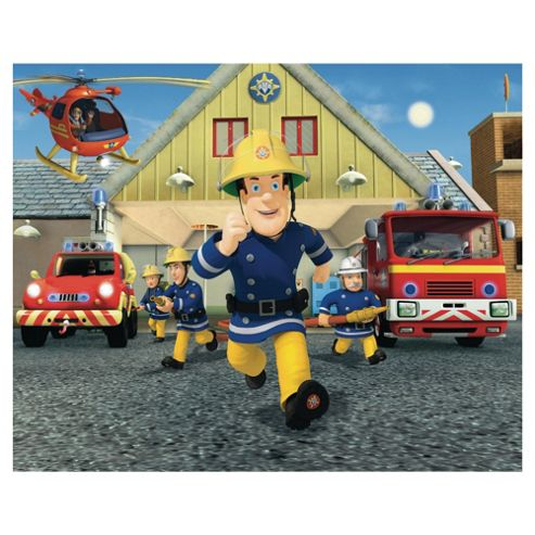 Fireman Sam Wallpaper Mural 8ft x 10ft