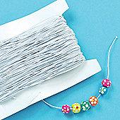 Bead Crafts White Elastic (Per Reel)