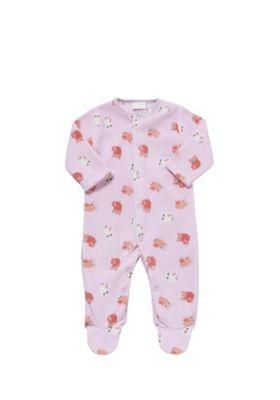 F&F Owl Print Fleece All in One Newborn Pink