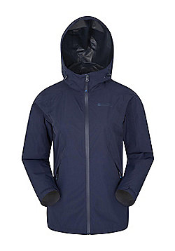 Mountain Warehouse Womens Waterproof 2.5 Layer Jacket Breathable with Adjustable - Blue
