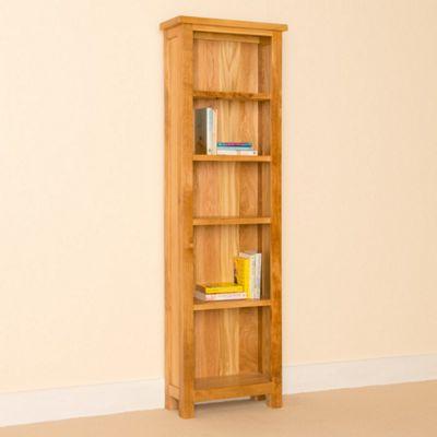 Newlyn Oak Bookcase - Slim Bookcase - Light Oak