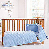 Clair de Lune 3pc Cot Bed Bedding Set (Marshmallow Blue)