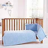 Clair de Lune 3pc Cot Bed Bedding Set (Marshmallow Blue)