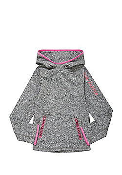 F&F Active Run Faster Space Dye Hoodie - Grey marl