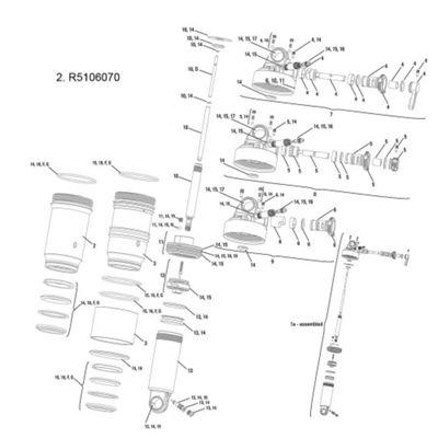 RockShox Air Can Kit Monarch/Plus RC3/RT/R 11-13, Monarch RT3 11-12 222x66mm Black