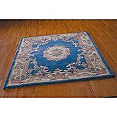 Lotus Premium Aubusson Blue 75x150 Wool Rug