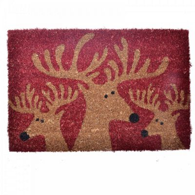 Christmas Reindeer Design Coir Doormat for the Home