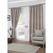 Dover Pencil Pleat Lined Curtains - Mocha
