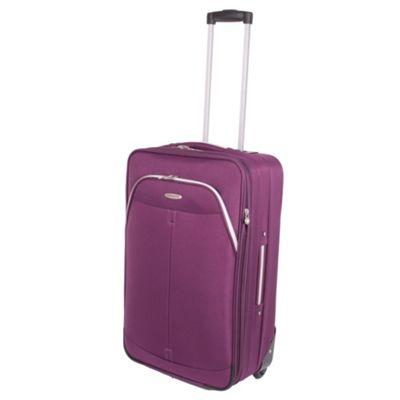 Pierre Cardin Zylo Medium Trolley Case - Purple & Light Grey