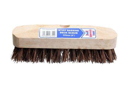 Faithfull Deck Scrub Stiff Broom Head 225mm (9in)