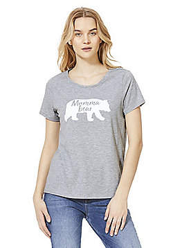 F&F Mother's Day Mumma Bear Top - Black